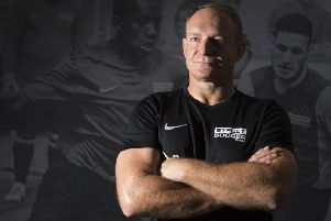 Francois Pienaar was in Glasgow to back work of Street Soccer Scotland. Picture: Jeff Holmes