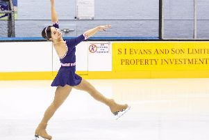Skater Katie Powell trains at Murrayfield Ice Rink.