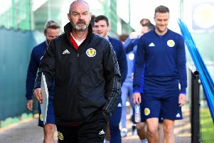 Scotland coach Steve Clarke at training at the Oriam ahead of the San Marino game.  Picture: Craig Williamson/SNS