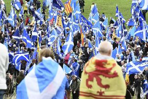 Poll details published at the weekend show that support for independence has reached 50 per cent. Picture: Lisa Ferguson