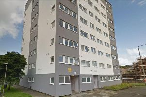 The body of a man was found in a flat on Carrbridge Drive in the Maryhill area of Glasgow on Monday. Picture: Google