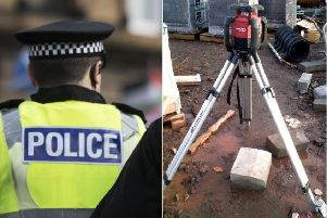 Police are appealing for witnesses following the equipment theft.