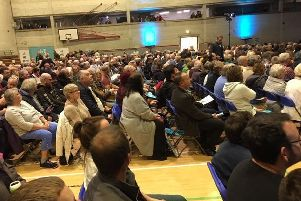 Nigel Farage told a Brexit Party rally in Cornwall that the debate was now about the very soul of democracy itself (Picture: Bill Jamieson)
