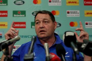 All Blacks coach Steve Hansen says Ireland will be under pressure to deliver a historic win on Saturday. Picture: Getty Images