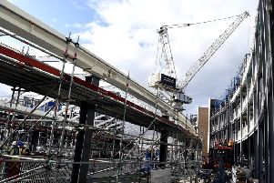 A look behind the scenes of the construction of the new St James centre site where new hotel, apartments, shopping area is being built. Pic: Lisa Ferguson.