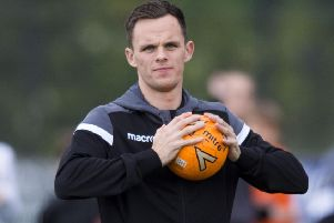 In-form striker Lawrence Shankland has already scored 15 goals for Dundee United. Picture: Mark Scates/SNS