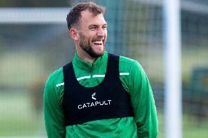 Christian Doidge is still looking for his first league goal with Hibs. Picture: Ross Parker/SNS
