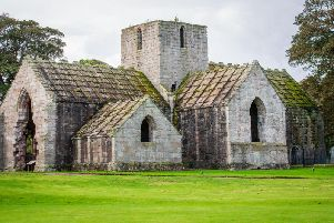 Dunglass includes a 15th century gothic church. Picture: Ian Georgeson.