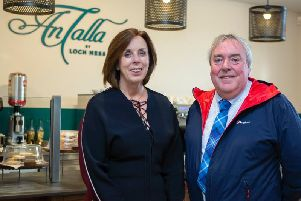 An Talla owner Freda Newton with VisitScotland's Malcolm Roughead. Picture: John Baikie