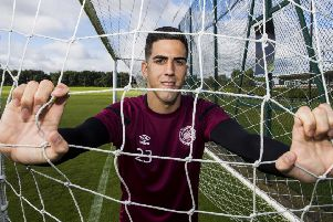 Hearts'on-loan keeper Joel Pereira is following the work ethic of his hero, Cristiano Ronaldo. Picture: SNS.