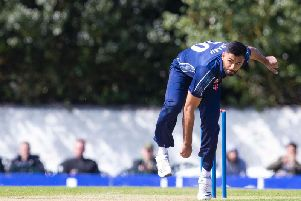 Safyaan Sharif took two wickets in two balls
