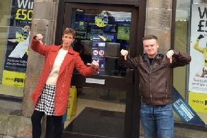 Jill and Cameron MacGregor show their disapproval at their bet not being honoured (Photo: @Nikkimc1972)