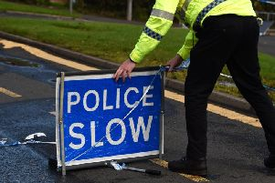 The collision happened at around 12.35pm on Tuesday in Mar Place, close to Marshill Roundabout in Alloa.