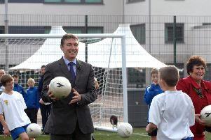 The Ex-Rangers and Kilmarnock player suggested children practise with soft plastic balls instead.