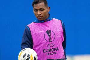Alfredo Morelos could be set for a 'fascinating battle' with veteran Porto defender Pepe. Picture: Ross MacDonald/SNS