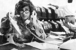 Kathryn Johnson working in the AP bureau in Atlanta in the late-1970s. Picture: AP