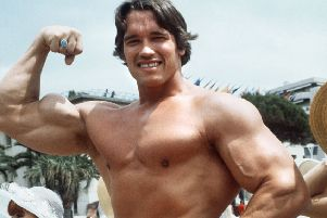 Arnold Schwarzenegger has spoken of using steroids during his early career when the drugs were new, but stresses the sport should be clean and 'bodybuilding not body-destroying' (Picture: AFP/Getty Images)