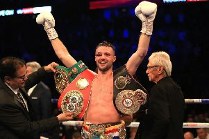 Josh Taylor will 'have a breather' following his thrilling win over Regis Prograis at the O2 Arena in London. Picture: Stephen Pond/Getty Images