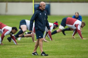 England defence coach John Mitchell oversees training drills at the Fuchu Asahi Football Park in Japan. Picture: Odd Andersen/AFP via Getty Images