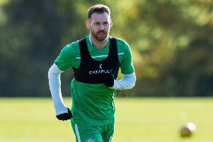 Hibs winger Martin Boyle is close to making a comeback having been sidelined since July. Picture: SNS.