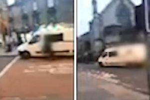 Video footage shows the incident on Bristo Place