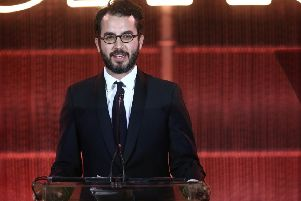 Jonathan Safran Foer on stage at the Environmental Media Association's 2nd Annual Honors Benefit Gala, 28 September 2019, in Pacific Palisades, California. PIC: Tommaso Boddi/Getty Images for The Environmental Media Association