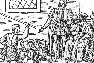 A group of women accused of witchcraft are beaten in front of KIng James VI. Picture: Hulton Archive/Getty Images