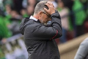 Craig Levein was axed as 'Hearts manager after the 1-0 defeat by bottom side St Johnstone. Picture: Alan Harvey/SNS