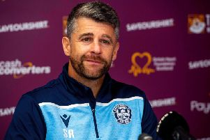 Motherwell manager Stephen Robinson is the favourite for the job with the bookmakers. Picture: SNS