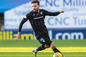 Ryan Dow was on target for Dunfermline. Picture: SNS.