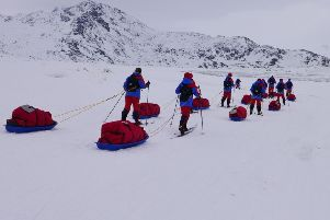 Bathgate pupils on the Polar Academy expedition to Greenland