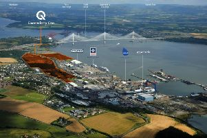 An aerial view of the Queensferry One site. Picture: Contributed