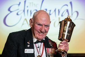 Tom recieved an engraved Loving Cup at the Edinburgh Award ceremony, presented by the Lord Provost.
