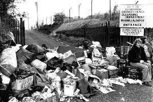 Uncollected bins during the 'Winter of Discontent' in 1979