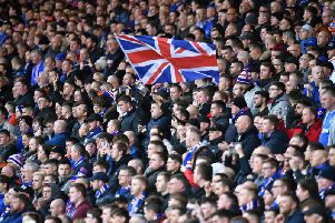 A general view of Rangers fans. File image: SNS Group