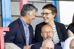 Hibs owner Ron Gordon and chief executive Leeann Dempster have begun the search for a new manager. Picture: Alan Rennie/SNS