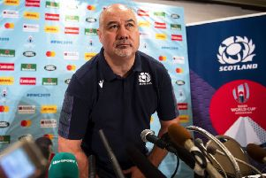 SRU chief executive Mark Dodson addresses the media during the Rugby World Cup in Japan. Picture: Gary Hutchison/SNS