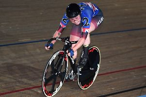 Katie Archibald in action at the recent London Six Day meeting. Picture: Alex Davidson/Getty Images