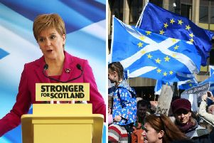 """Speaking at the launch of her party's general election campaign at Dynamic Earth in Edinburgh, Ms Sturgeon said: """"Scotland's vote to remain in the EU has been ignored."""" Picture: PA/John Devlin"""