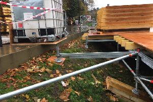 Concerns have been raised about the safety of the structure being built in Princes Street Gardens for the Christmas market