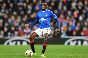 Rangers' Finnish midfielder Glen Kamara in action during the Europa League Group G match against Porto at Ibrox. Picture: Andy Buchanan/AFP via Getty Images