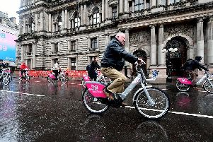 Electric bikes have proved an instant hit at Scotlands largest rental scheme with hires of the power-assisted cycles running at twice the rate of its standard bikes.