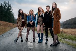 Our Ladies (left to right) R'Marli Siu, Sally Messham, Rona Morison, Tallulah Greive, Abigail Lawrie''star in the new Edinburgh film