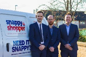 From left: Mike Callachan, Alan Reid and Mark Steven from Snappy Shopper. Picture: contributed.