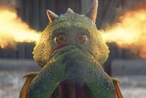 Edgar the over-anxious dragon's fiery outbursts cause problems. Picture: John Lewis