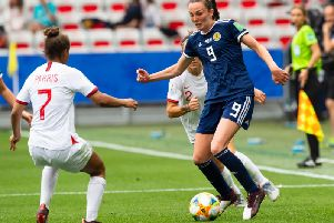 Caroline Weir in action for Scotland against England at the World Cup in France. Picture: SNS