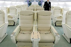 Business class in the Airbus A380