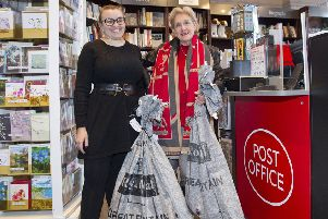 Tracey and Masha Mason at the opening of the post office last October.