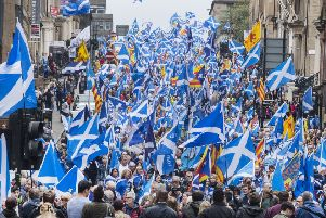 The Saltire of Scotland belongs to everyone in this country, not just to nationalists (Picture: John Devlin)