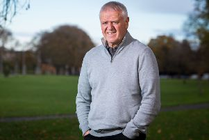 Jim Jefferies is back on his feet and back on the golf course following his recent heart-attack. Picture: Ian Georgeson